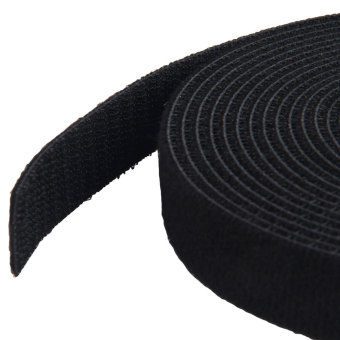 Leegoal 4.5 Meter Self Adhesive Hook and Loop Tape Cable Ties Roll(1 Roll,Black) - intl - 3