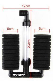 leegoal Double Head Air Pump Sponge Filter For Aquarium Tank Size20 Gallon (Black) - intl - 5
