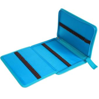 leegoal Pencil Holder Bag Pencil Zippered Wrap Colored PencilsOrganizer Case Roll Multi Foldable Purpose Pouch,72 Slot,Sky Blue -intl - 3