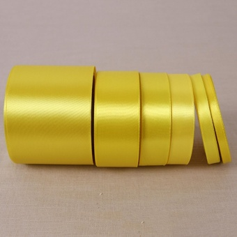 Lemon Yellow25 Yards Silk Satin Ribbon Wedding Party Decoration Gift Wrapping Christmas Year Apparel Sewing Fabric Hand DIY 50mm - intl - picture 2