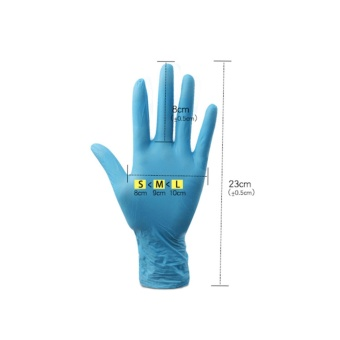 Liberty Nitrile Industrial Glove, Powder Free, Disposable, Blue Box of 100 - intl - 4