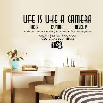 Life Is Like A Camera Quote Wall Stickers Home Decals Home Study Decoration DIY - 4