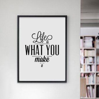 Life Quote Wall Art Print Poster, Wall Pictures For HomeDecoration, Frame Not Include Canvas Art FA54 Price Philippines