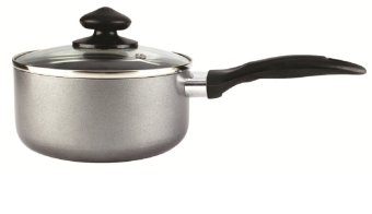 Lifestyle 18cm Non-Stick Induction Sauce Pan with Glass Lid (IXN-180)