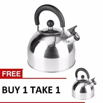 Lifestyle 3L Induction Whistling Kettle Set of 2 Silver  (ILSWK-30)