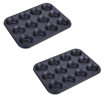 Lifestyle CN9711/12 Muffin Pan 12 Holes Set of 2 (Black)