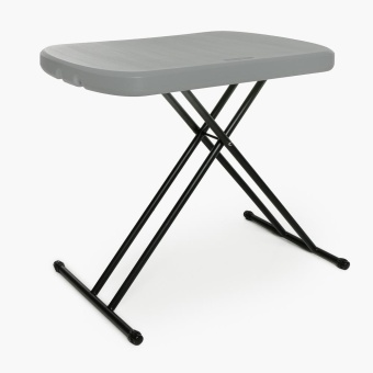 Lifetime 26in. Personal Folding Table (Dark Grey)
