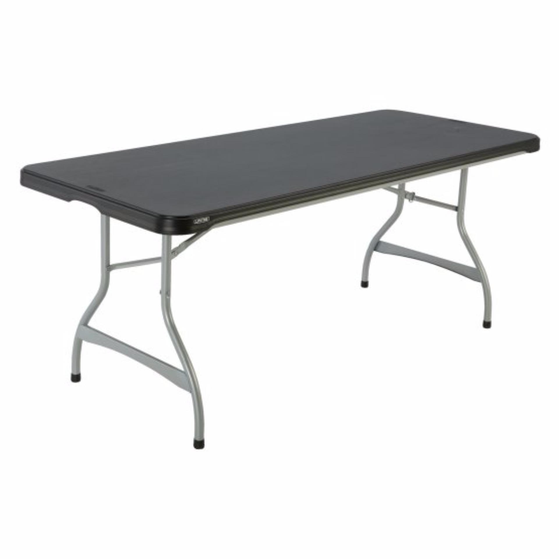 Lifetime Black 6 foot mercial Stacking Folding Table
