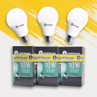 ... 3 Pcs LightHouse LED Bulb E27 Daylight Premium 10W 6500K A60 LHA60E27