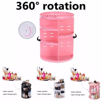 Limited Plastic Cosmetic Storage Box 360 Degree Rotation Makeup Organizer Boxes Cosmetics Receive A Case Bins - intl - 4