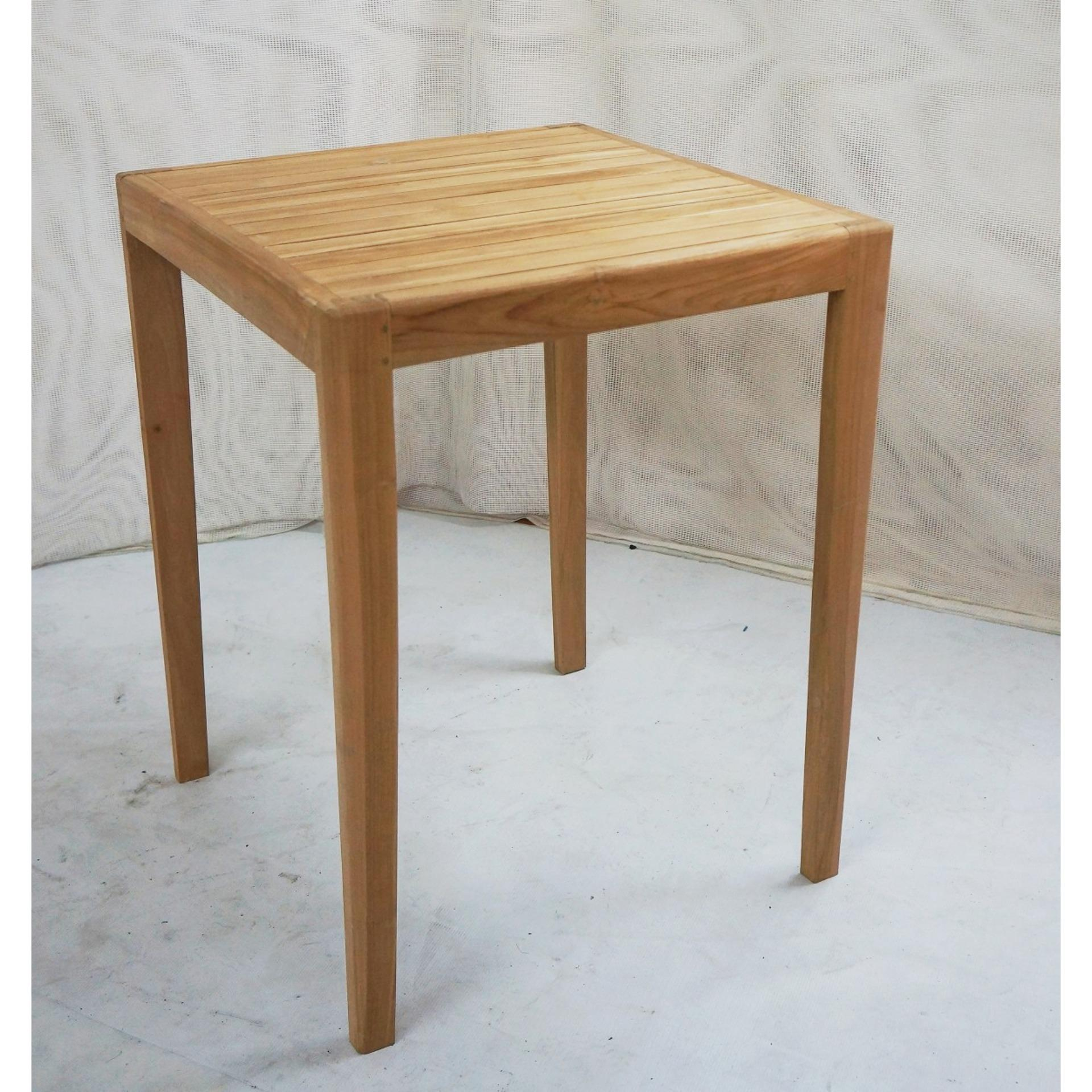 ... Linden Teak Handcrafted Solid Teak Wood Bench Dining Table 60x60cm  Furniture (Eco WoodSeries) ...