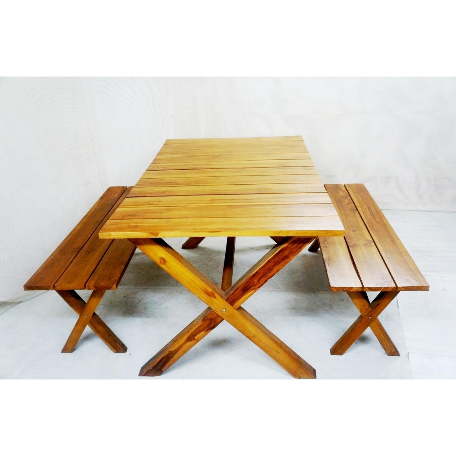 Teak Handcrafted Solid Wood Jakarta Dining Set Furniture Gold