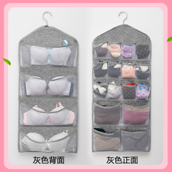 Linen dormitory wardrobe storage hanging bag storage bag