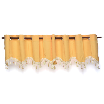 Linen Dyed Valance Curtain Set of 2 (Yellow Gold) Price Philippines