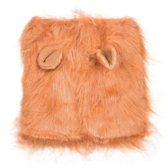 Lion Mane Headwear Wig for Dogs Dogloveit Dog Costume with GiftType D Light Brown With Ear - intl - 2