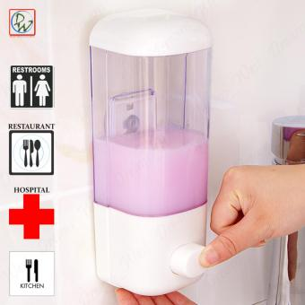 Liquid Soap & Lotion Dispenser Wall Mounted Single Compartment Touch Soap Dispenser (White)