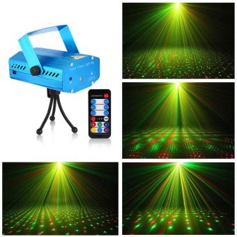 Litake Mini Stage Light LED Laser Projector Voice-activated/Auto/Flash FDA Certificated for Club Disco Bar DJ Party - intl