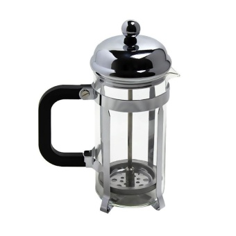 Live Birds 3-Cup Heat Resistant Glass French Press Coffee MakerCoffee Press Tea Maker Pot with Stainless Steel Holder, 350ml 12oz, Silver - intl