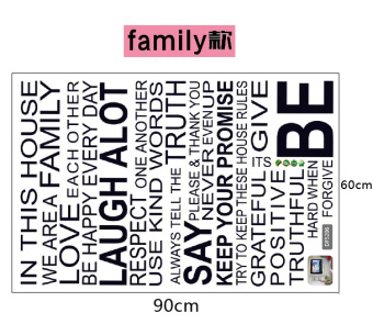 Living room European-style English Lettered stickers wall adhesive paper