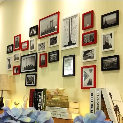 Philippines   Living room photo wall frame wall photo wall traceless ...