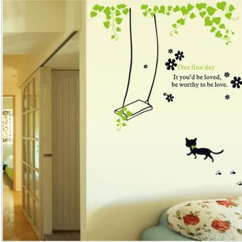 Living room window wall flower stickers adhesive paper