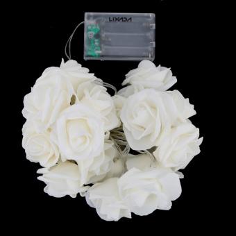LIXADA 2.2M 20 LED Flower Rose Lamp Fairy String Light for Party Wedding Home Decor Christmas Gift Warm White (Intl) - picture 2