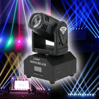 Lixada LED Stage Effect Lamp Total 50W Rotating Moving Head DMX512Sound Activated Master-slave Auto Running 11/13 Channels RGBW ColorChanging Beam Light for Disco KTV Club Party - intl