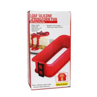 Loaf Silicone Spring Form Pan (Red)