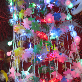 Long led lantern string Christmas tree accessories