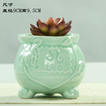 Longquanqingci blue and white porcelain mini small pots