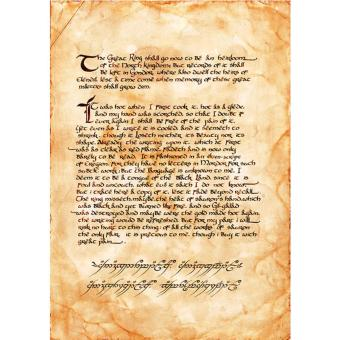 LORD OF THE RINGS ISILDUR SCROLL