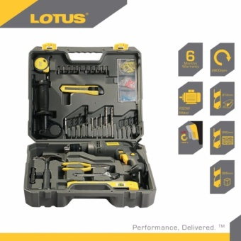Lotus LID13REPK Impact Drill 13mm + 45 pcs. Tool Kit