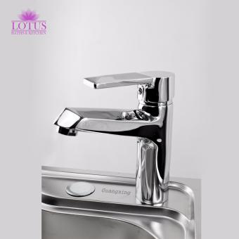 Lotus PREMIUM Edge Hot and Cold Water Mixing Kitchen BathroomBasin Sink Bath Tub Tap Faucet (Silver)