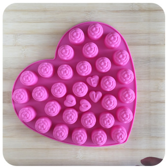 LOVE chocolate lovely rose silicone cake mold