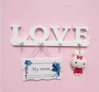 LOVE clothes hanger bedroom wall coat hook adhesive hook