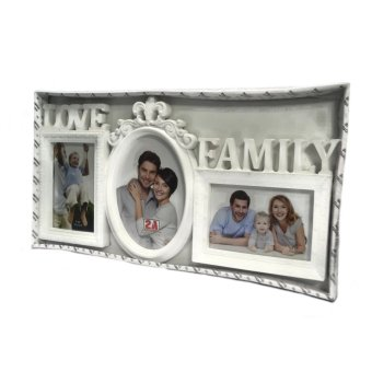 Love Family Collage Picture Frame (White) - picture 2