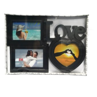 Love With Heart Design Collage (Black)