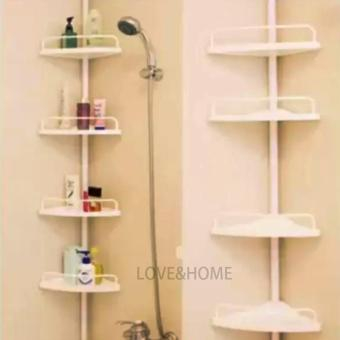 LOVE&HOME Adjustable Bathroom Corner Pole Caddy Shower Organizer