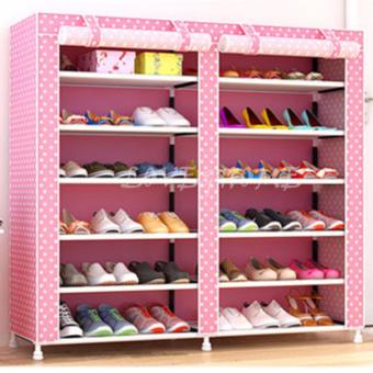 LOVE&HOME High Quality Double Capacity 6 Layer Shoe Rack Shoe Cabinet (Pink Dog) Price Philippines