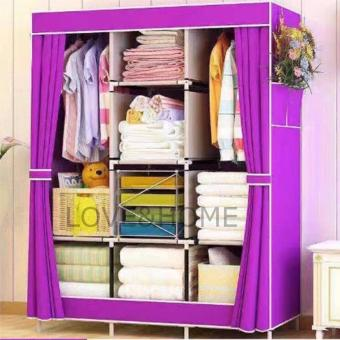 LOVE&HOME Hight Quality Multifunction Fashion Cloth Wardrobe (Purple)