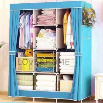 LOVE&HOME Hight Quality Multifunction Fashion Cloth Wardrobe (Sky Blue)