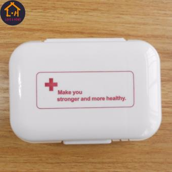 LOVE&HOME Plastic Portable 8 Slots Pills Box Medicine Tablets Storage (White)