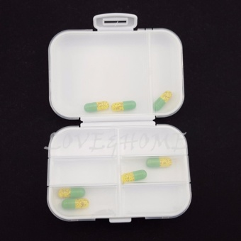 LOVE&HOME Plastic Portable 8 Slots Pills Box Medicine Tablets Storage (White) - 4