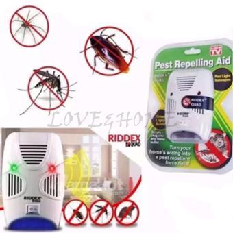 LOVE&HOME Riddex Quad Pest Repelling Aid Features Sonic PestRepelling Aid Set of 2 - 2
