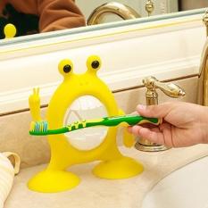 Lovely Cartoon Model Toothbrush Toothpaste Sucker Type HolderBathroom Tool Rack - intl