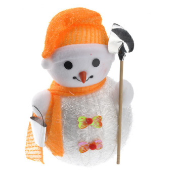 Lovely Snowman Shaped Christmas Decoration Ornament - Medium Size Orange