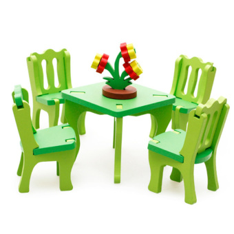 Lucky Wooden Blocks Dining Room Set (Toy for Child) - intl