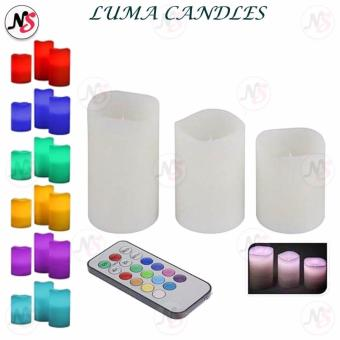 Luma Candles Flameless Changing LED Light with Remote Control Timer (white)