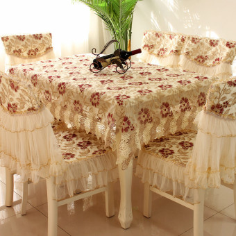 Luxury coffee table cloth tablecloth