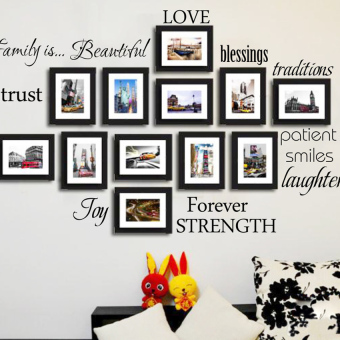 LZ Wall Stickers Decal For Decor Home Family Picture Photo Frames -intl